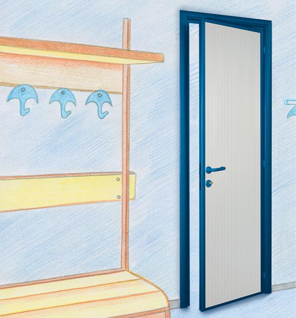 Porte interne per palestre, bagni, scuole, piscine e strutture commerciali